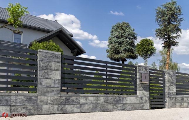 Roma Horizon ,ogrodzenie betonowe, modułowe,Joniec Bh20 kolor marengo