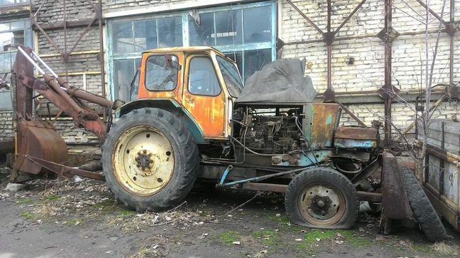 Трактор ЮМЗ 6 с экскаваторной установкой