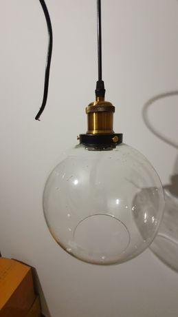 Lampa szklana kula loft