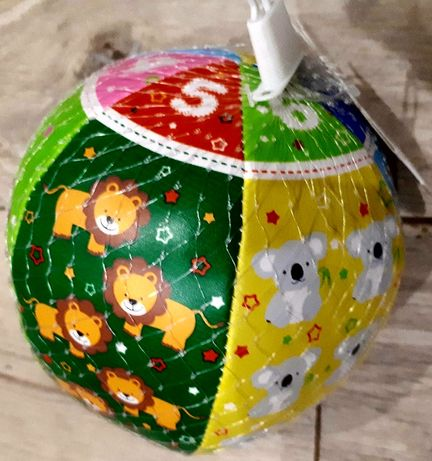 Miękka piłeczka dla dzieci od 6 miesiąca życia, nowa za 5zł