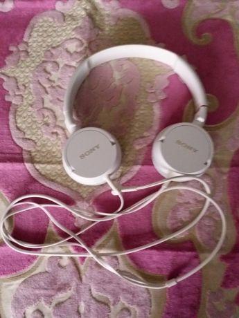 Słuchawki Sony białe super dźwięk !!!