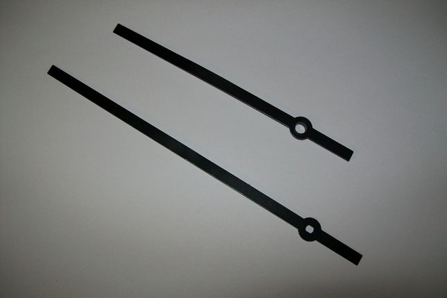wskazówki Baton aluminiowe czarne do zegarów kwarcowych