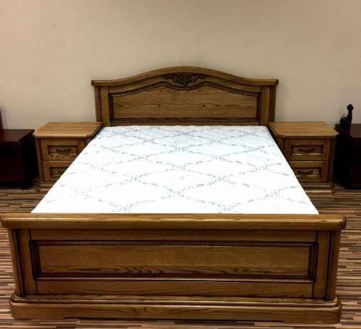 Ліжко 1,6х2,0 з масив дуба в наявності/ Ліжко з дуба