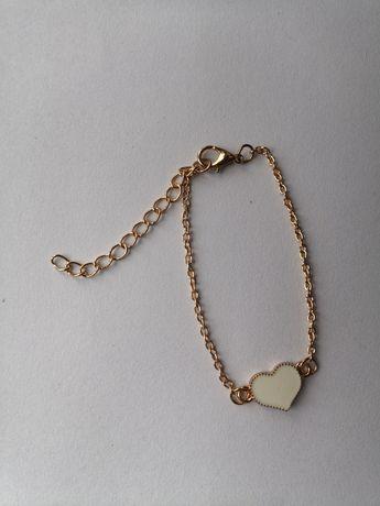 Bransoletka złota z serduszkiem celebrytka NOWA serce modna śliczna