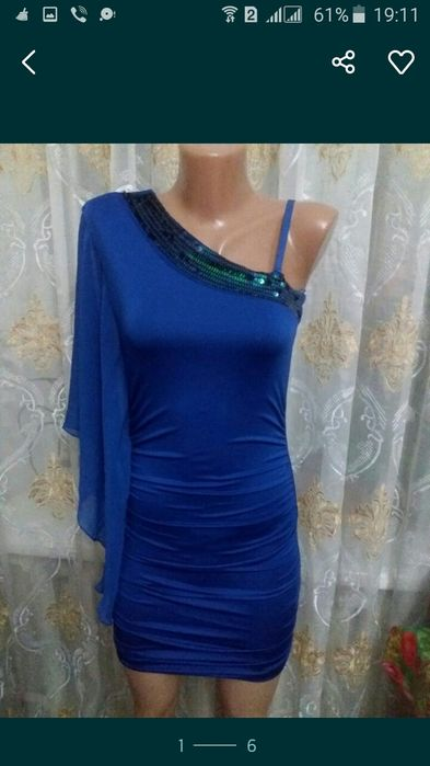 Красивенное мини -платье р.34-36. Цена 150грн. Белая Церковь - изображение 1