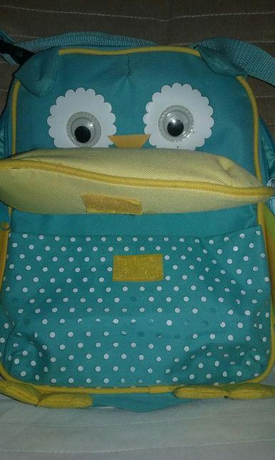 Plecak i torba na ramię w jednym sówka dla dziecka