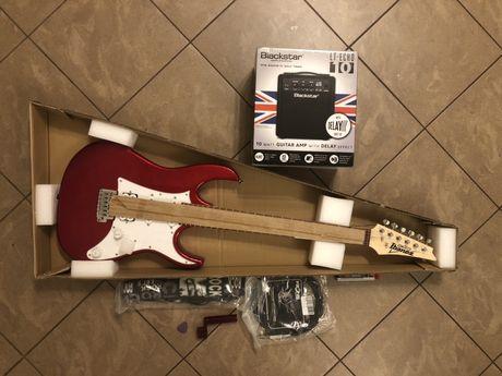 Gitara elektryczna Ibanez GRX40-CA + wzmacniacz Blackstar LT-ECHO10 +