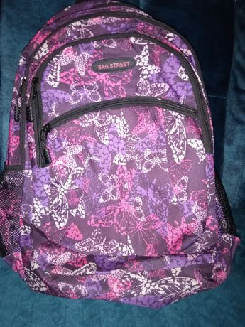 Plecak szkolny,na wycieczki Bag Street. Fioletowy