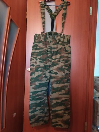 Ватные тёплые военные штаны