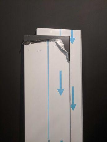 Parapety aluminiowe antracyt + koncówki