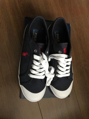 Trampki, grantowe, sznurowane buty marki Ralph Lauren. Rozmiar 38,5