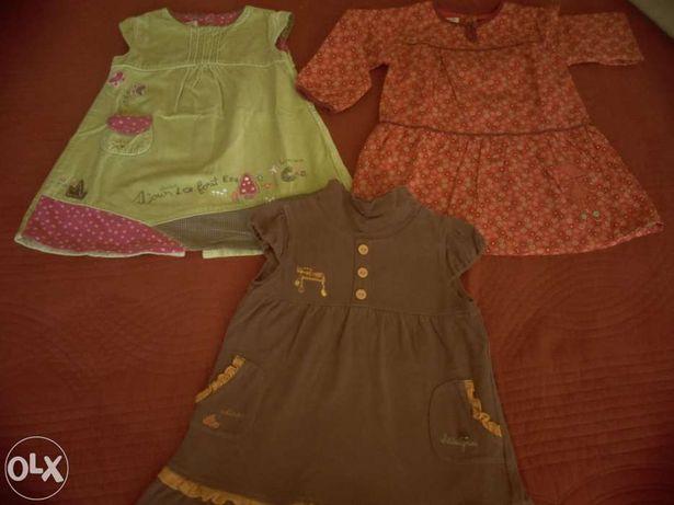 Vestidos de menina de inverno 18 meses - lote de 3