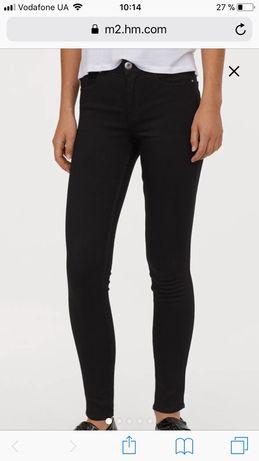 Чёрные джинсы/джегинсы скини (super skinny regular jeans)H&М,размер36
