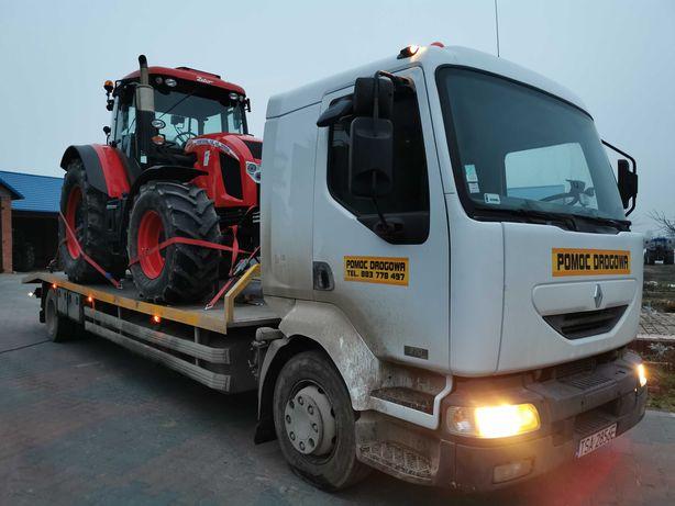Pomoc drogowa, laweta, transport ciągników koparek maszyn rolniczych