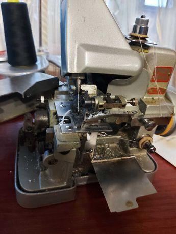 Оверлог на три нитки,+обрізання тканини