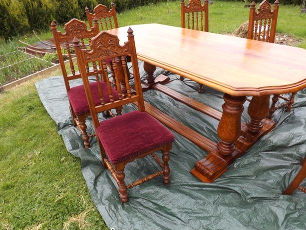 Stół i 6-krzeseł (antyk)