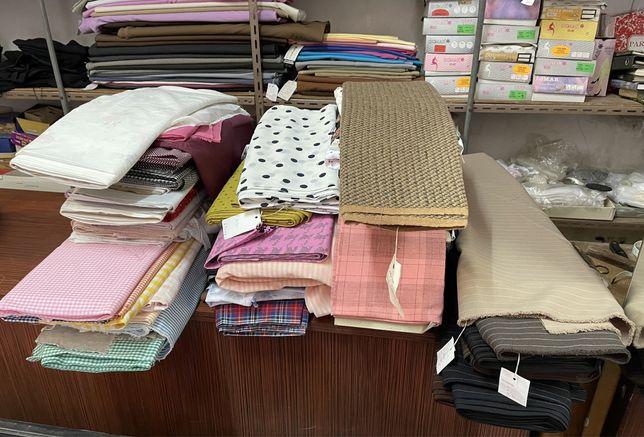 Tecidos diversas cores e materiais