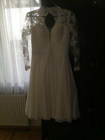 Sukienka suknia wieczorowa ślubna koronkowa