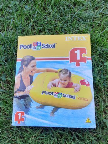 Koło dmuchane basenowe do pływania dla dziecka fotelik