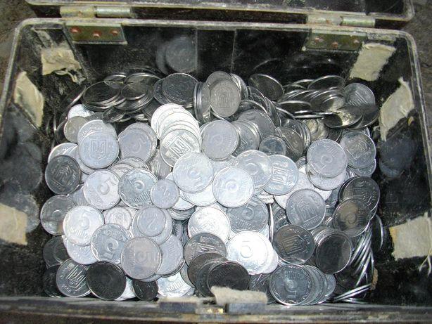 Продам монеты Украины 1,2,5 копеек