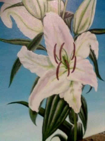 Картина Акрилом Лилии