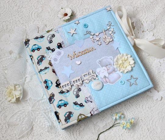 Альбом дневник для новорожденного мальчика , бебибук для малыша