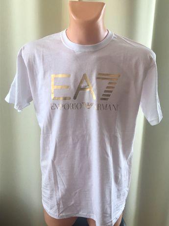 Armani t-shirt złote logo rozmiar M