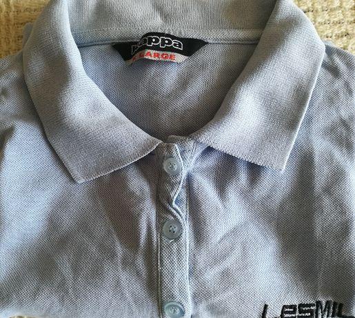 KAPPA Koszulka Polo ROZMIAR S Męska Kolor Błękit - SUPER