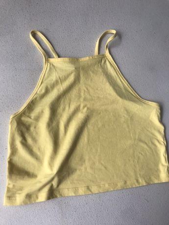 Żółty top H&M 38