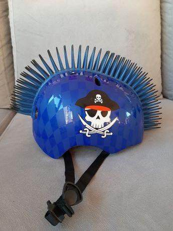 Kask pirat rowerowy, deskorolkowy
