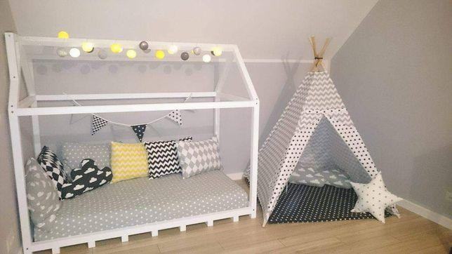 Łóżko domek z materacem termoelastycznym 160x80