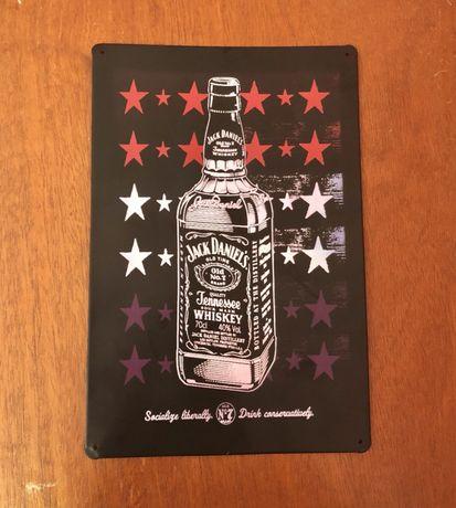 JACK DANIELS - Placa Matrícula Decorativa Metal