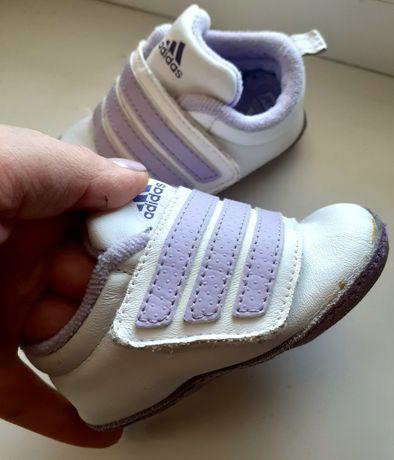 Кроссовки кожа adidas пинетки