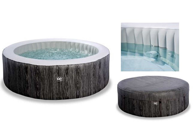 Nadmuchiwane SPA JACUZZI basen hydromasaż EXIT Wood Deluxe 204x65cm