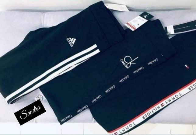 PROMOCJA Leginsy Adidas Nike CK Guess Tommy S M L XL Wyszywane spodnie