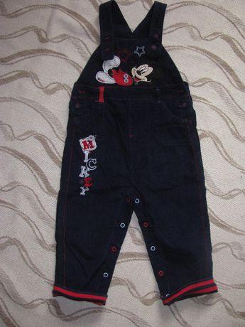 Вельветові штани комбінезон tu 1,5-2р