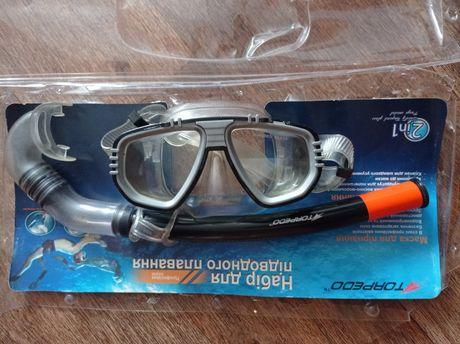 Маска и трубка для подводного плавания море кораллы