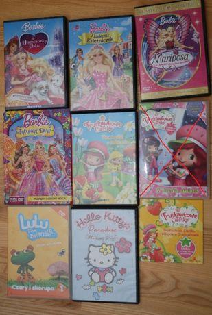 Bajki - Barbie, Truskawkowe Ciastko, Lulu, Hello Kitty, dvd