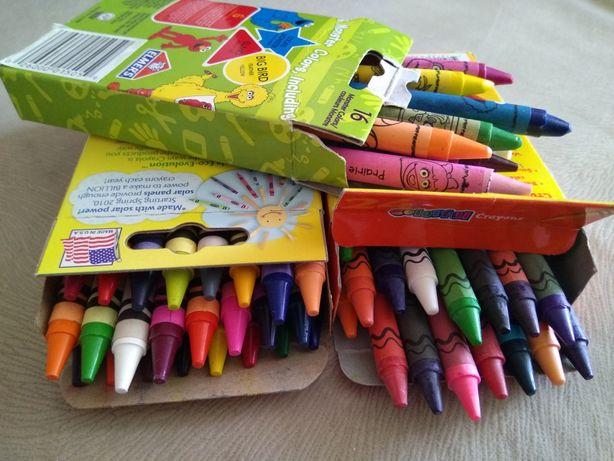 Восковые карандаши мелки