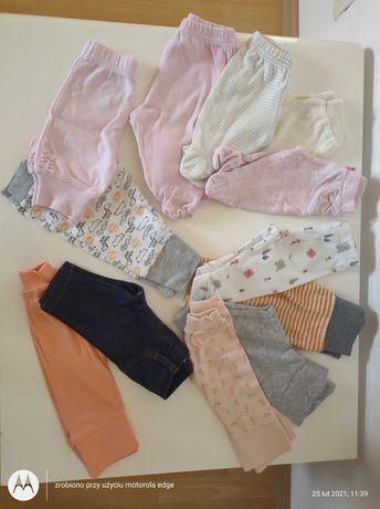 Spodnie dla dziewczynki rozm 50-56