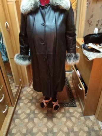 Кожаное пальто со съемной подстежкой