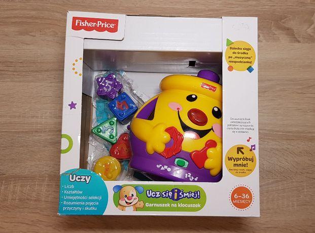 Fisher-Price, garnuszek na klocuszek, zabawka edukacyjna 6-36m