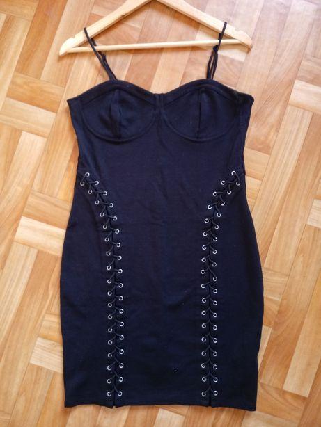 H&M czarna sznurowania XL
