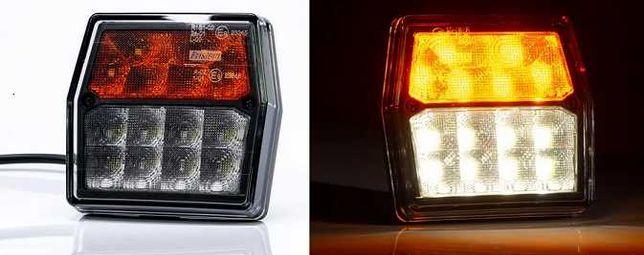 2 x Lampa Przednia Przód LED do TRAKTORA Ciągnika 2V KIERUNEK
