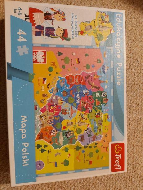 Puzzle edukacyjne Mapa Polski Trefl