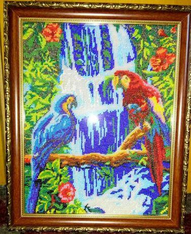 Картина (вышивка чешским бисером)