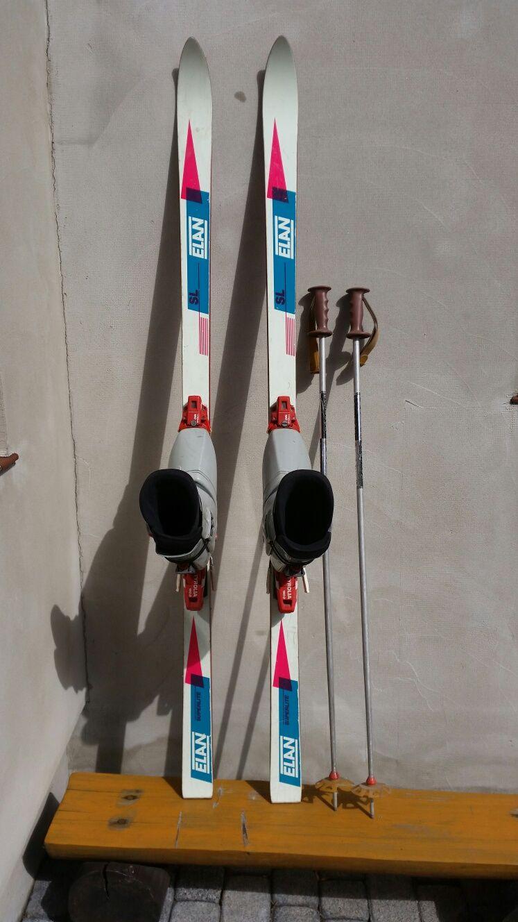Narty Elan wiązania Tyrolia 190D buty Salomon SX51