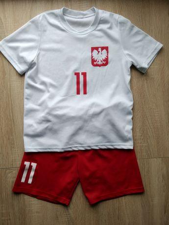 """Strój piłkarski Polska """"11 Kacper""""."""
