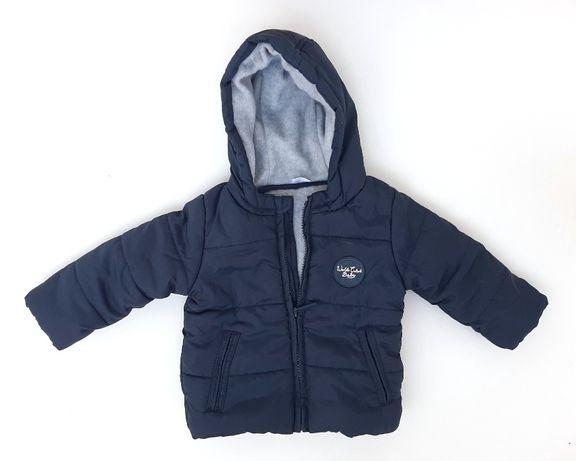 Granatowa pikowana kurtka zimowa F&F r. 74