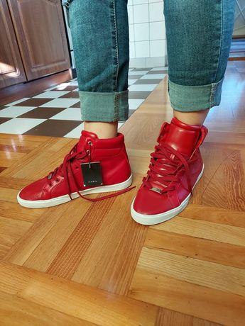 Buty męskie czerwone wysoki stan zara